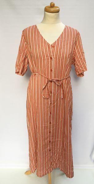 Suknie i sukienki Sukienka Paski Paseczki Marynarska 40 42 L XL Happy Holly