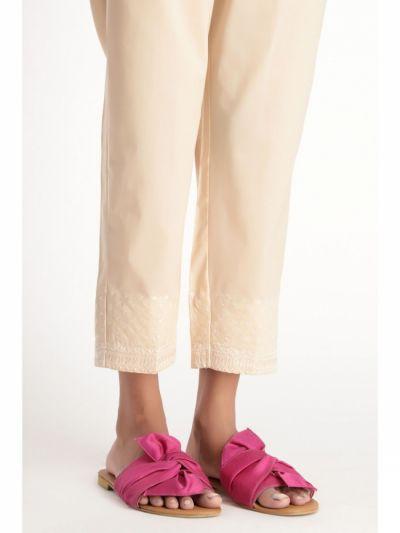 Spodnie Nowe spodnie indyjskie M 38 bawełniane beżowe haft salwar szarawary cygaretki Bollywood boho
