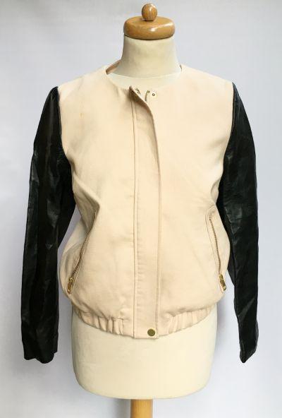 Odzież wierzchnia Kurtka Morelowa H&M M 38 Skórzane Czarne Rękawy Katanka