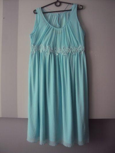 Suknie i sukienki weselna mietowa sukienka