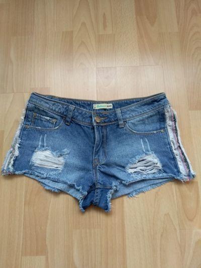 Spodenki Jeansowe podarte szorty s CROPP