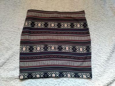 Spódnice Mini w azteckie wzory M