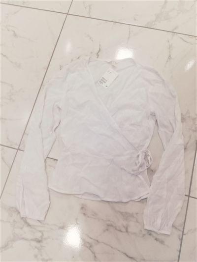 Koszule Biała bluzka koszula H&M