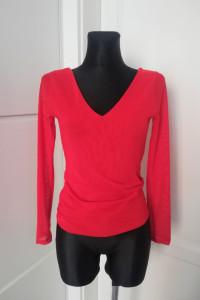 Czerwona bluzka z siateczki must have...