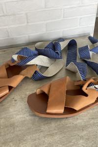 Zara sandały skórzane wiązane skóra rozmiar 38 wkładką 25cm założone raz