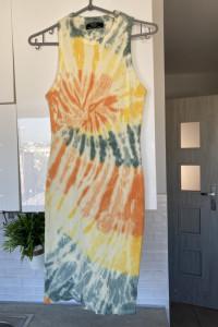 Bershka sukienka bodycon acid wash dopasowana...