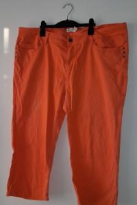 Pomarańczowe spodnie rybaczki z wysoki stanem 50...