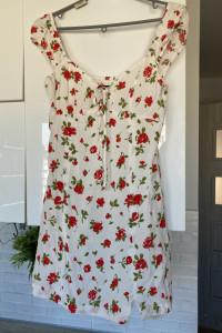 Zara sukienka letnia kwiaty floral róże...