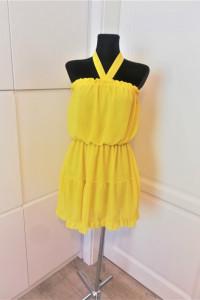 Żółta sukienka w hiszpańskim stylu Wesele Summer...