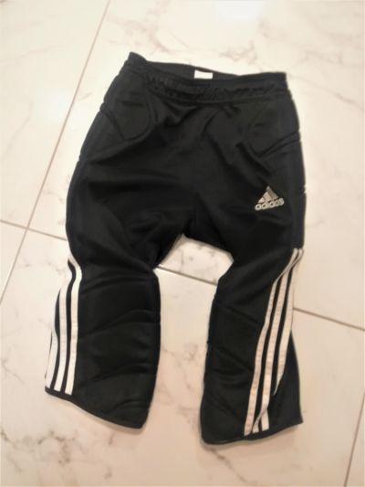Spodenki Czarne spodenki kolarki Adidas z pogrubieniem po bokach