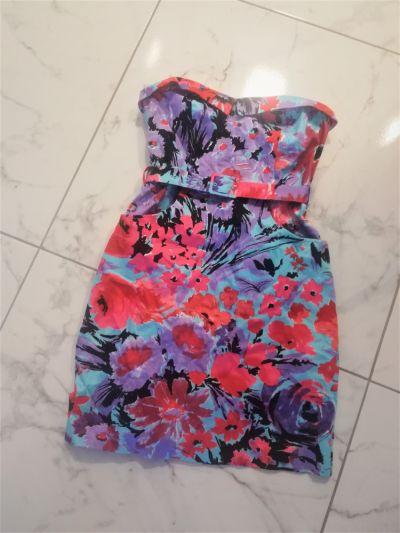 Suknie i sukienki Sukienka w kolorowe kwiaty H&M Wesele