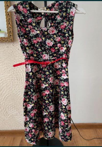 Suknie i sukienki Sukienka Monteau Rozmiar S W kwiaty