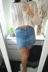 Sinsay Spódnica damska jeansowa M