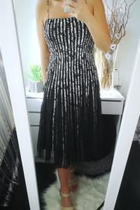 JS Collections Oryginalna Sukienka damska długa z tiulem S