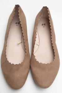 Balerinki Brązowe Karmelowe NOWE H&M 41 Eleganckie