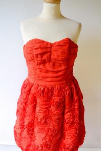 Sukienka Czerwona H&M M 38 Garden 3D Róże
