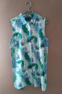 Długa koszula w tropikalny wzór 36...