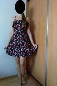 letnia sukienka w kwiaty xs...