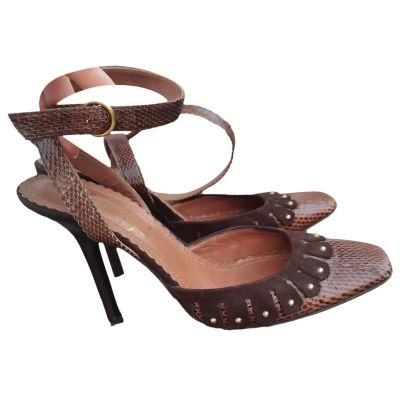 Szpilki Yves Saint Laurent YSL skóra naturalna licowa szpilki sandały