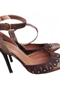 Yves Saint Laurent YSL skóra naturalna licowa szpilki sandały