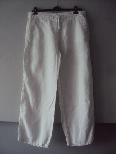 Spodnie biłae lniane spodnie