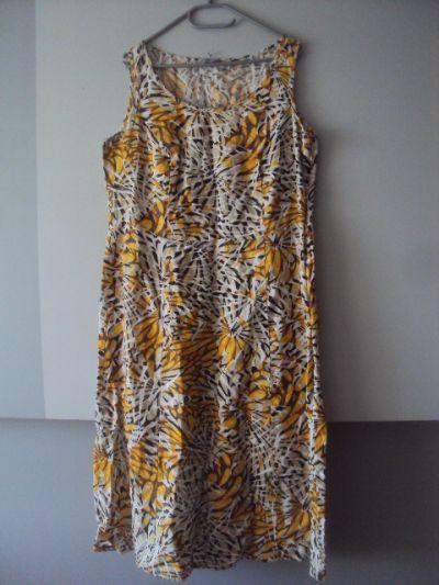 Suknie i sukienki lniana rozkloszowana sukienka