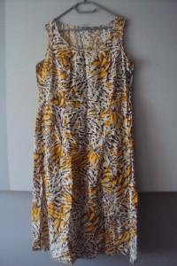 lniana rozkloszowana sukienka