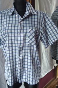 koszula w kratkę AllThings Collection 38 39 biało błękitna...