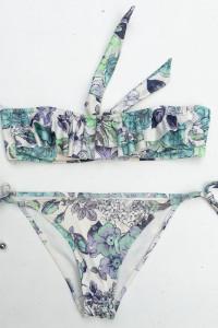 Strój Kostium Kąpielowy Kwiaty Falbanka XS 34 Wzory H&M...
