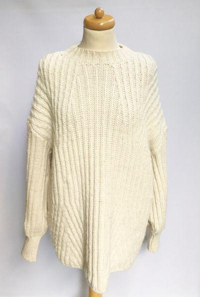 Swetry Sweter Kremowy Topshop Oversize L 40 Luzny Akryl