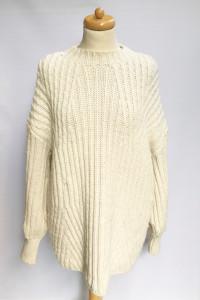 Sweter Kremowy Topshop Oversize L 40 Luzny Akryl