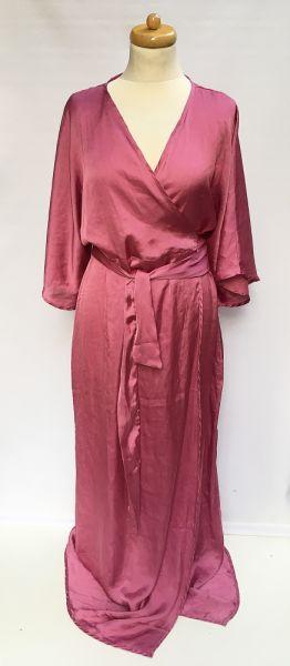 Stroje kąpielowe Pareo Narzutka Na Kd Różowa XL 42 Kimono Sukienka Plażowa