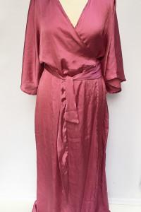 Pareo Narzutka Na Kd Różowa XL 42 Kimono Sukienka Plażowa