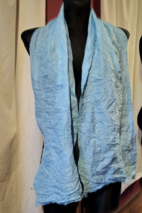 Błękitna chusta apaszka szal niebieska chusta apaszka szal