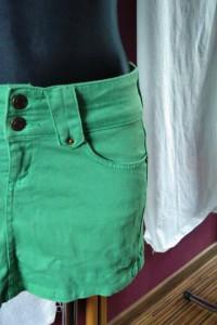 Zielona spódnica Denim Co z kieszonkami mini dżinsowa jeans...