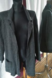 Ciemno szary gruby sweter Marks & Spencer rozmiar 40 grunge...