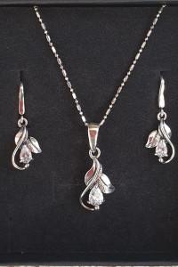 srebrny komplet biżuterii...
