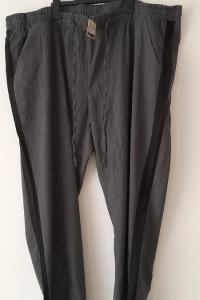 Szare eleganckie spodnie wysoki stan 56...