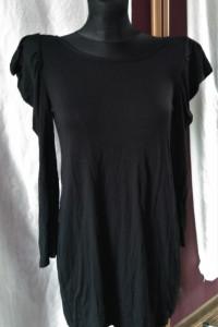 Czarna sukienka Dunnes 40 bufiaste rękawy vintage retro goth