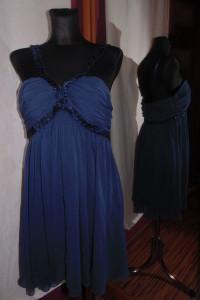 Granatowa elegancka sukienka New Look 14 na ramiączkach tiul