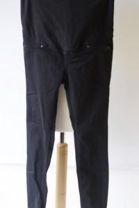 Spodnie H&M Mama Granatowe Rurki L 40 Tregginsy Ciążowe...