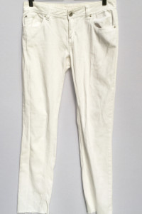 Spodnie Białe Cubus M 38 Rurki Biel Postrzepione Nogawki...