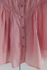 Różowa bluzeczka z koronką...