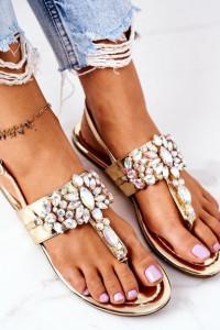 Sandałki Opalizujące Kamienie Złote 38 Lu Boo...