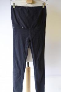 Spodnie H&M Mama Granatowe M 38 Rurki Ciążowe Tregginsy...