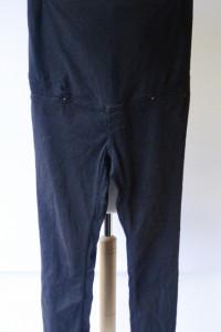 Spodnie H&M Mama Granatowe L 40 Rurki Tregginsy Ciąża...