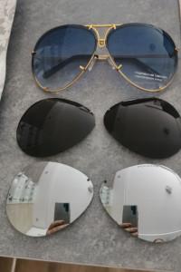 Okulary przeciwsłoneczne pilotki Aviator Porsche P8478 designer