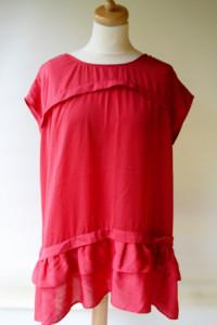 Bluzka Tunika Czerwona L XL 40 42 Falbanka Ellos...