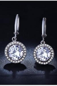 Nowe kolczyki srebrny kolor cyrkonia eleganckie...