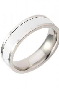 Nowy pierścionek obrączka biały srebrny kolor prosty...